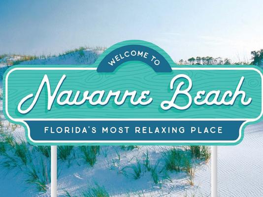 Navarre Beach new sign