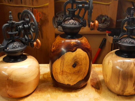 Coffee Grinders by Greg Phillips Woodturning