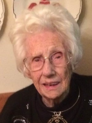 Mary Gretchen Ricker, 100 years old, was lovingly called to heaven on March 25, 2015.
