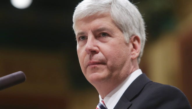 Michigan Gov. Rick Snyder said March 26, 2014, that he would rather talk about jobs and the economy than his views on same-sex marriage.
