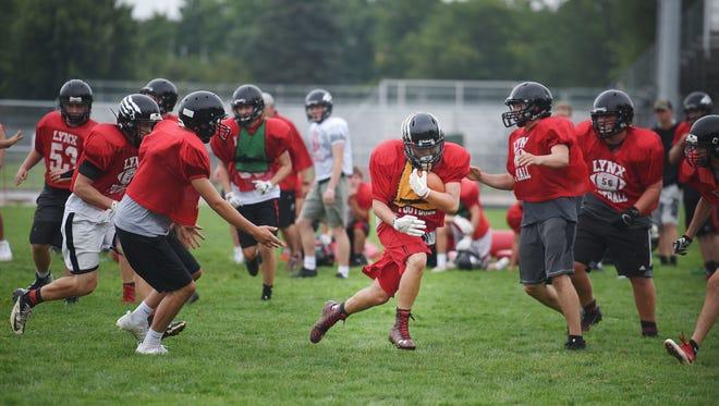 Brandon Valley High School practices Monday, Aug. 14, at the high school in Brandon.