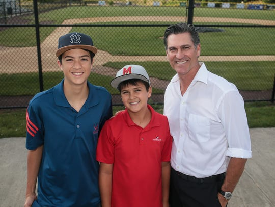 Mark Ciardi of West Lake Village, CA, with sons, Hayden