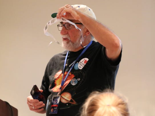 Local NASA solar system ambassador Gene Zajac, of Put-in-Bay,