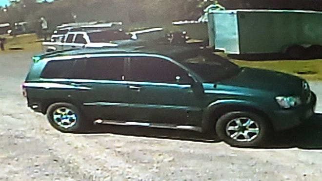Pennsylvania State Police are looking for the driver of this dark green or dark gray, older-model Toyota Highlander. The driver, a middle-aged man, is suspected of trying to lure a child into the vehicle in Greene Township on Tuesday.