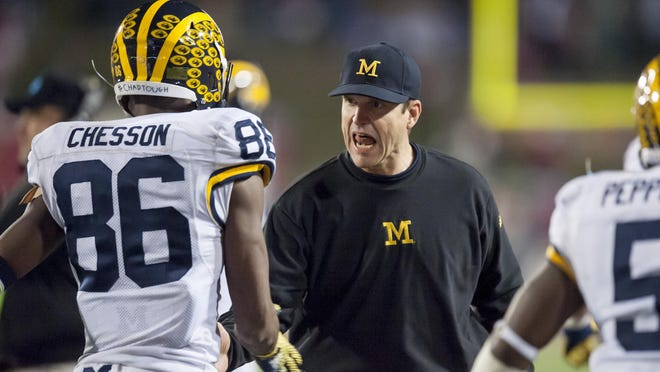 Jehu Chesson's decisive touchdown catch Saturday was a result of some perceptive improvisation.