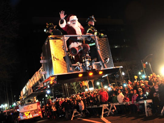 Santa comes to Christmas in Morristown.