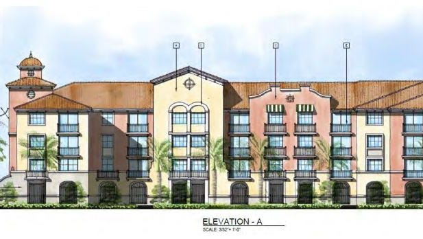Elevation renderings of Edera at Coconut Point.