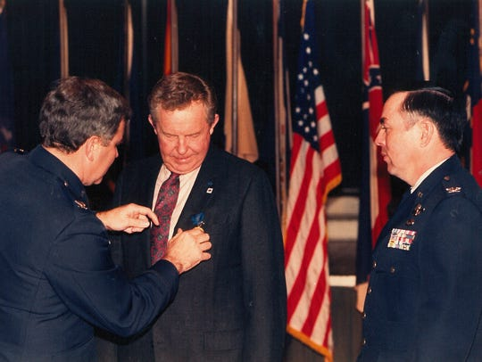 Fred Lee Hughes receives the Air Force Exceptional