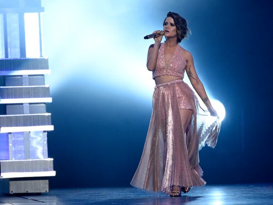 """Maren Morris performs """"Craving You"""" at the 52nd annual"""