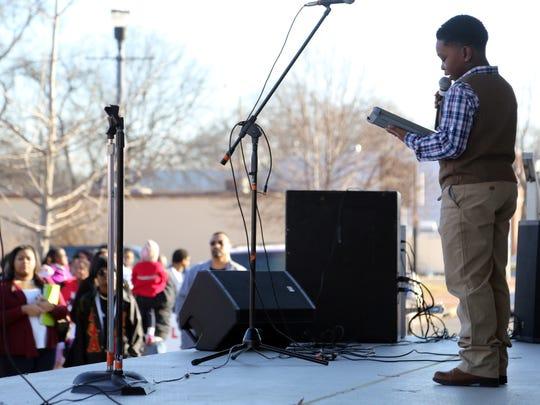 "Jehlin Hayes delivers Martin Luther King Jr.'s ""I Have"