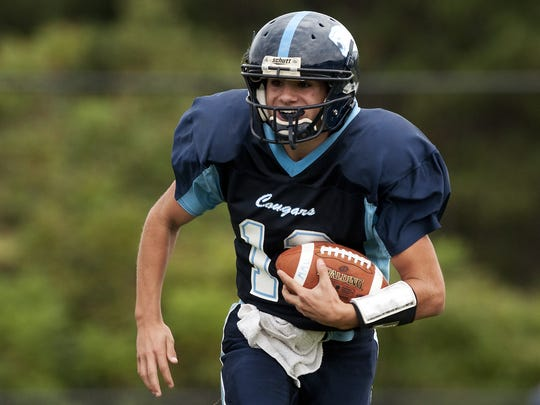 Quarterback Dominic Mosca will lead Mount Mansfield's new-look spread offense, ending the program's long run of using a Double Wing T formation.
