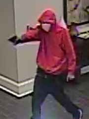 Greenville police say this suspect robbed a clerk and two customers at Crowne Plaza hotel