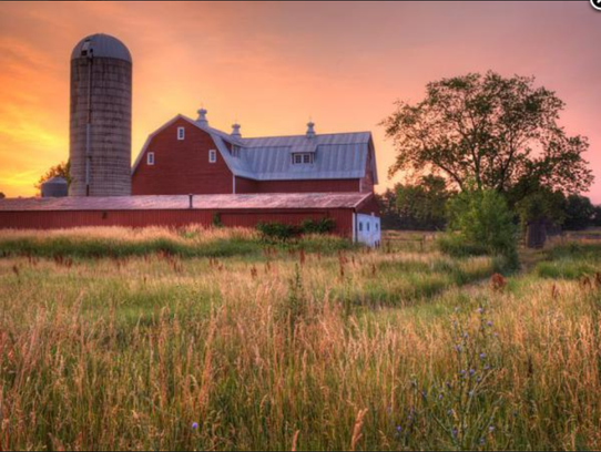 The Eastmanville Farm Barn, located in Coopersville,