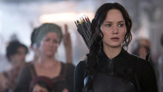"Jennifer Lawrence in ""The Hunger Games: Mockingjay -- Part 1."""
