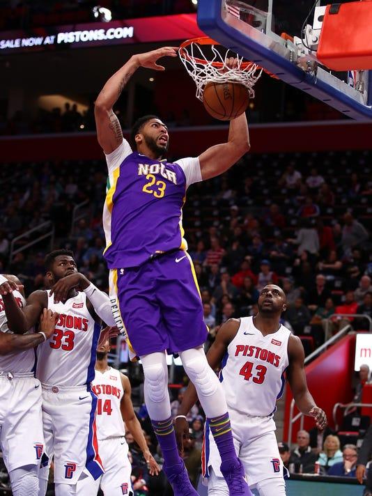 New Orleans v Detroit Pistons