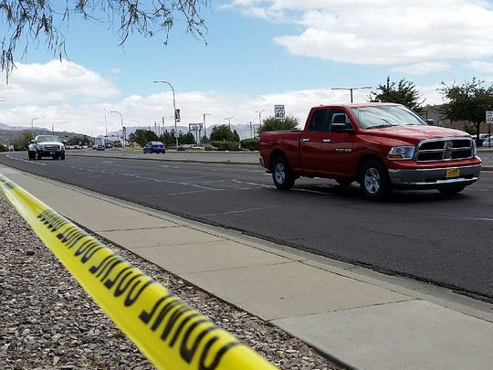 Traffic flowed normally on Wednesday, a day after a motorcycle crash claimed the life of 23-year-old Las Crucen Matthew Lee Richter. Bits of police tape remained at the scene.
