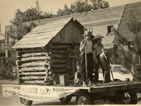 A float in the St. Cloud Pioneer Days parade circa