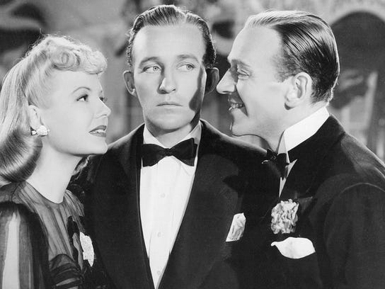 "Marjorie Reynolds, left, Bing Crosby and Fred Astaire star in the Christmas classic ""Holiday Inn"" (1942), now available in a new Blu-ray upgrade."