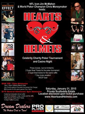 Hearts & Helmets takes place in Scottsdale on Saturday, Jan. 31 at a private residence.