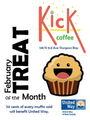 Treat of the Month proceeds at Kick Coffee to benefit United Way of Door County.