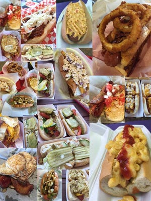 Hot dogs in Nashville. Those pictured come from Double Dogs, I Dream of Weenie, The Dog of Nashville, Hot Diggity Dogs and Cori's DogHouse.