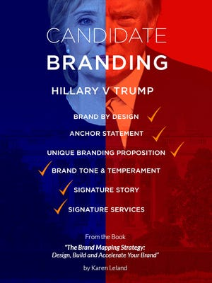 How Hillary Clinton and Donald Trump approach branding.
