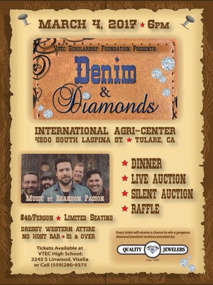Denim & Diamonds event flyer