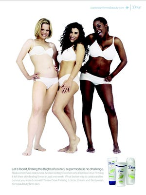 An ad from the Dove Campaign for Real Beauty