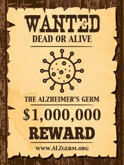 "This ""wanted"" poster promotes a $1 million challenge to scientists from Naples resident and medical newsletter publisher Dr. Leslie Norins."