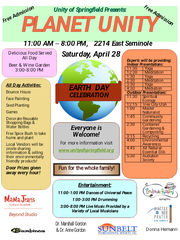 Planet Unity is a free daylong Earth Day celebration