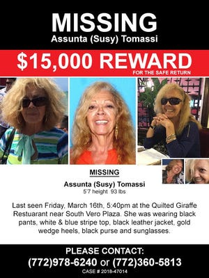 Susy Tomassi's family has increased the reward amount to $15,000.