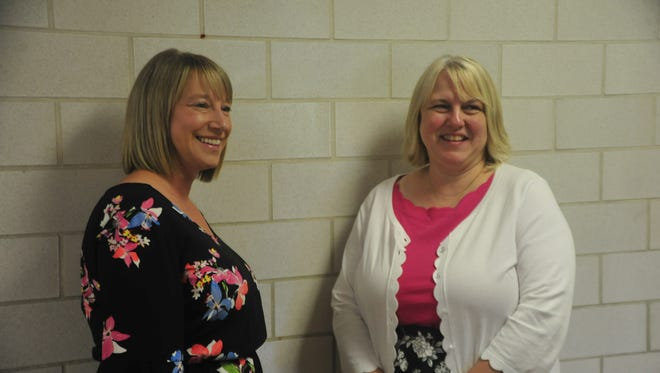 Bethany Scott, left, and Regina Sackman were hired Thursday as principals within Mansfield City Schools.