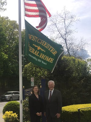 Westchester Funeral Home Inc. in Eastchester celebrates 185th year. Pictured above are fifth generation Funeral Director Alan Benedict and his daughter Carrie Benedict Foley.