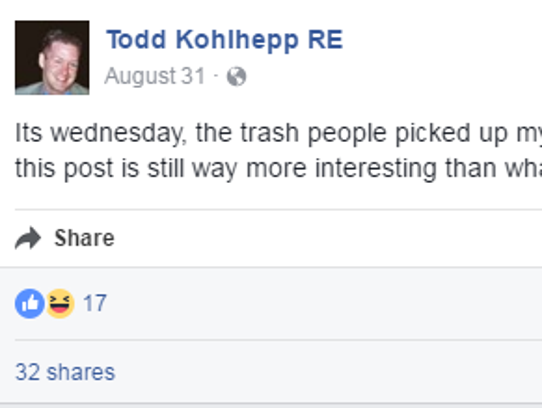 She Posts Statuses Like This Nearly Every Day Has An: Kohlhepp's Facebook Posts About Land Where Kala Brown Was