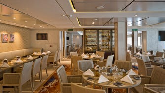 The Chef's Table restaurant is a staple of all of Viking Cruises' ocean ships.