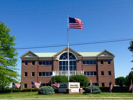 PeoplesBank is observing Memorial Day by displaying 35 flags on the front lawn of their Corporate Center as well as the lawn of the adjacent Leaders Height Financial Center along Leader Heights Road in York Township.
