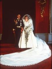 Britain's Prince Charles, left, and Princess Diana
