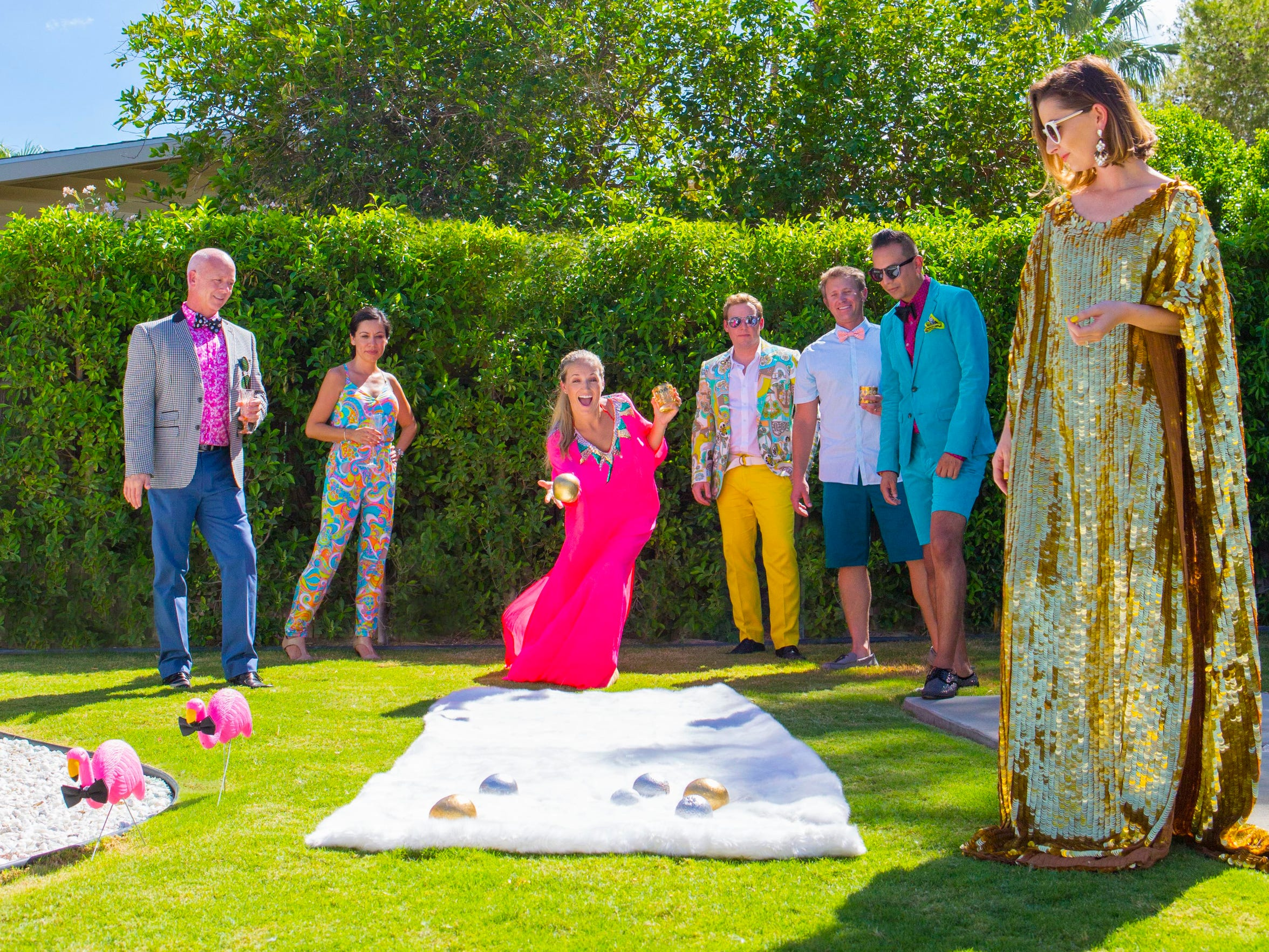 Have a ball and surprise guests with DIY bocce ball, created simply by spray-painting fruit such as grapefruits in silver and gold.