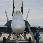 """Naval Air Station Lemoore said goodbye to its final F-18 """"Charlie"""", more than 30 years after it received the Navy's very first F-18. Lemoore is upgrading to the F-18 Super Hornet, which is already being flown in some squadrons across the country. Call Sign """"Dragon"""" took the last flight, making her way from Lemoore to Virginia Wednesday."""