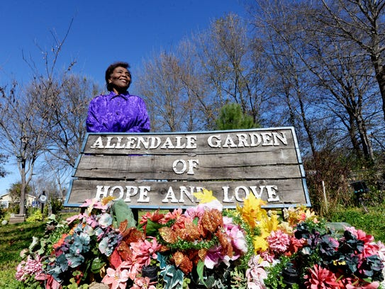 Rose Chaffold started the Allendale Garden of Hope