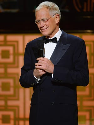 "David Letterman speaks onstage at Spike TV's ""Don Rickles: One Night Only"" on May 6, 2014 in New York."