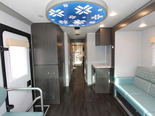 The interior of Deaconess' mobile mammography unit.