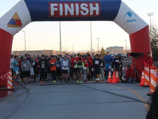 The Fort Bliss Half Marathon/5K Fun Run will be Jan.