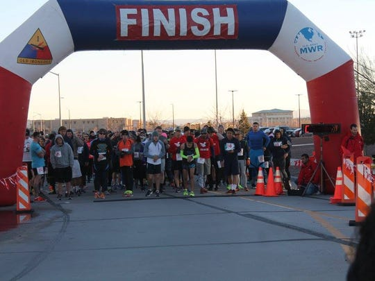 The Fort Bliss Half Marathon/5K Fun Run will be Jan. 27 at Soto Physical Fitness Center.