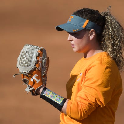Caylan Arnold prepares to throw a pitch during University