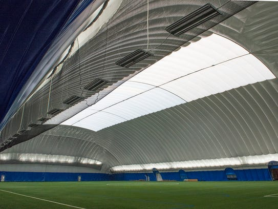 Interior view of the new dome at Schoolcraft College.