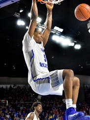 Middle Tennessee's Nick King would have been a March star had the Blue Raiders made the NCAAs.