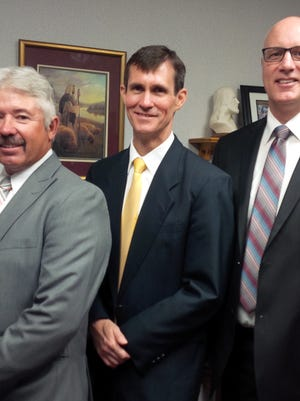 Duane Magoon, left, Vern Pollock, center, and John Gleave are the counselor's for the Bunkerville First Ward.
