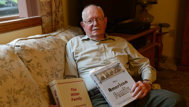 """Richard Willer of Lindsey has co-written two family history books, one for each side of his family. The second book, """"The Willer Family"""" contains information about over 10 family members, and took two years to complete."""