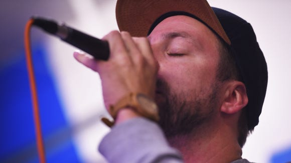 Soulcrate founding member Dan Eisenhauer raps during rehearsal Wednesday, Aug. 16, in Sioux Falls. Eisenhauer has been with the group since the beginning. Soulcrate has been creating music in the Sioux Falls areas for 15 years.